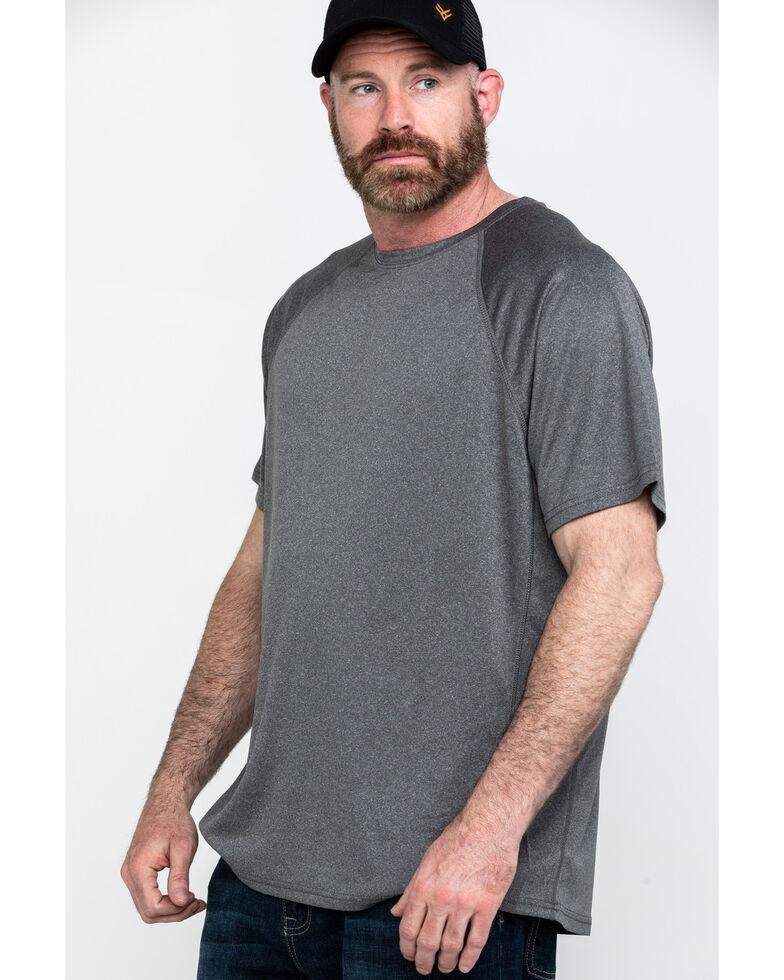 Hawx® Men's Charcoal Solid Performance Work T-Shirt - Tall , Charcoal, hi-res