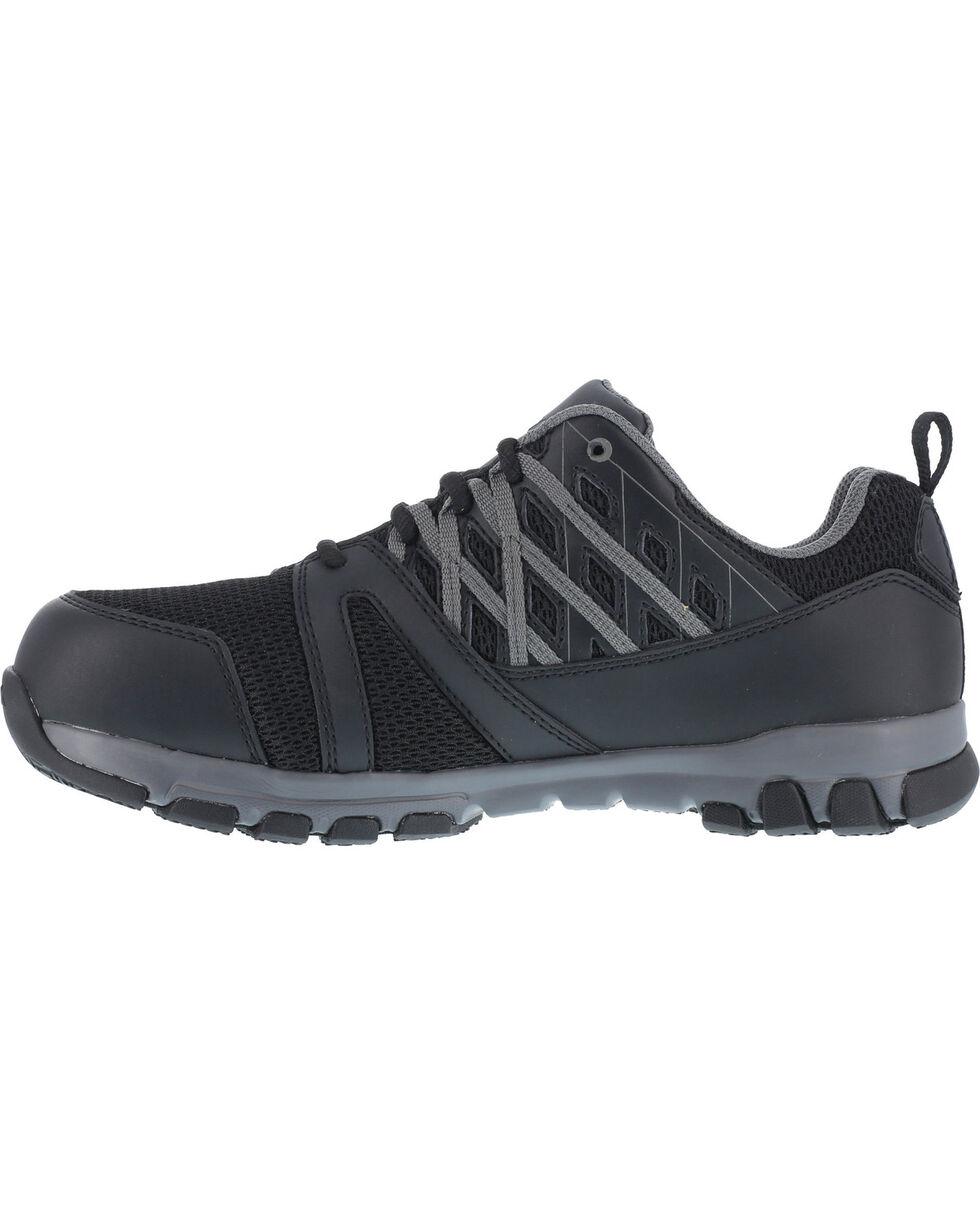 Reebok Women's Athletic Oxford Sublite Work Shoes - Soft Toe , Black, hi-res