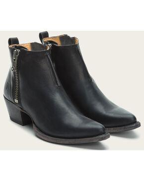 Frye Women's Black Sacha Moto Booties - Pointed Toe , Black, hi-res