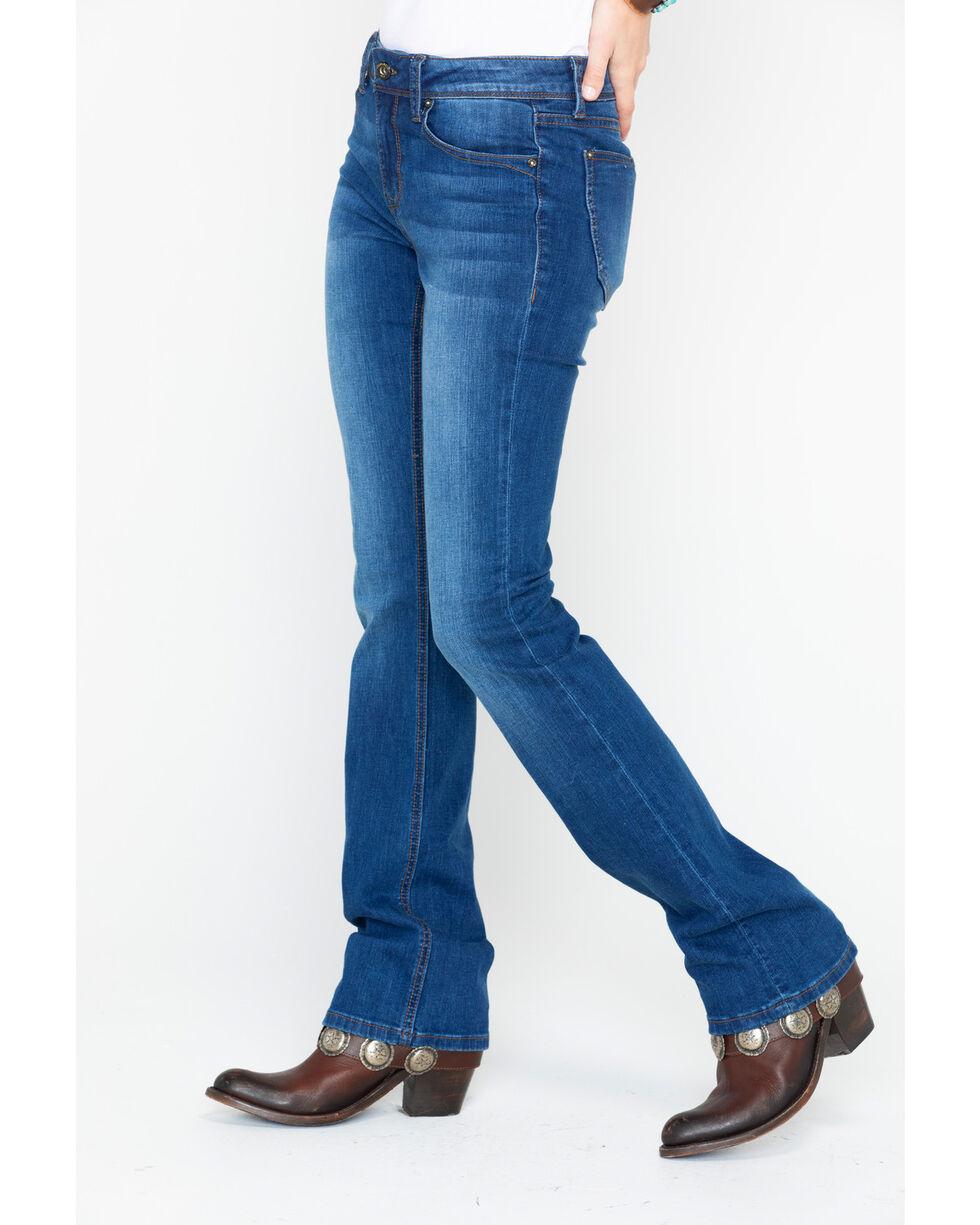Grace In LA Women's Medium-Wash Easy Boot Cut Jeans, Indigo, hi-res