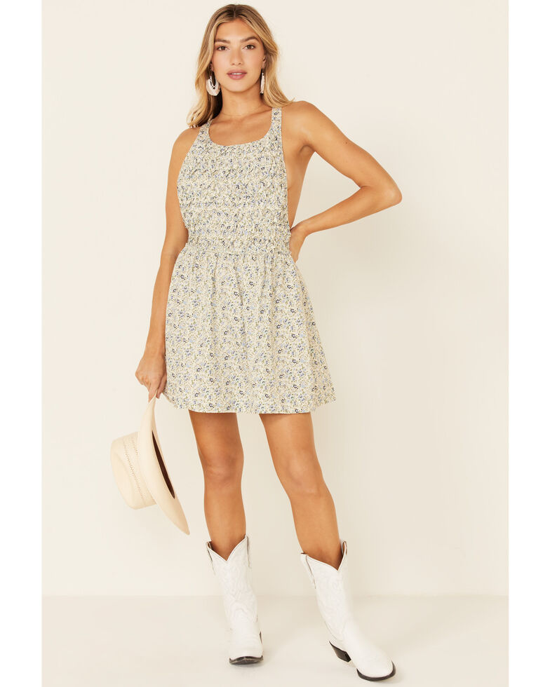 Free People Women's Petunia Mini Dress, Ivory, hi-res