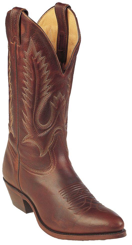Boulet Men's Brown Cowboy Boots - Pointed Toe, Brown, hi-res