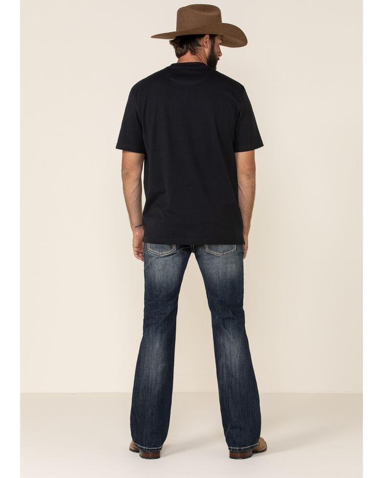 Rock & Roll Denim Men's Dark Vintage Pistol Regular Straight Jeans , Indigo, hi-res