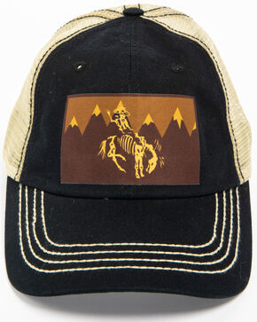 Cody James Men's Skeleton Cowboy Trucker Hat, Black, hi-res