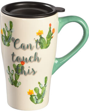 BB Ranch Can't Touch This Mug with Lid, Turquoise, hi-res