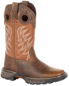 Durango Boys' Maverick XP Brown Western Work Boots - Soft Toe, Brown, hi-res