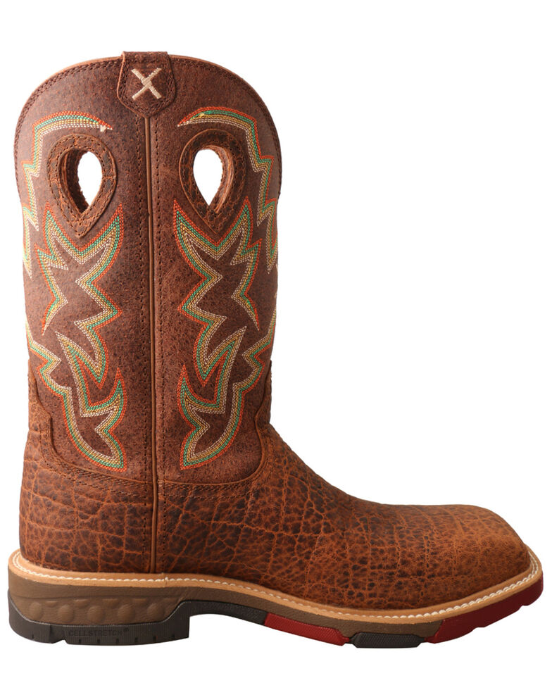 Twisted X Men's Tan Western Work Boots - Soft Toe, Tan, hi-res