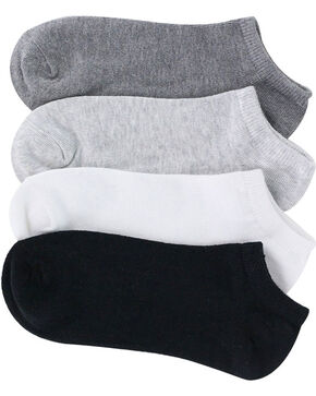 K.Bell Women's Solid No-Show Socks - 6 Pack , Multi, hi-res