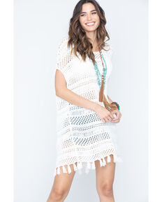 Petrol Women's Light Fringe Shirt , Ivory, hi-res