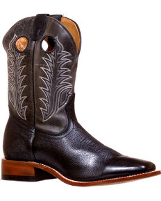 Boulet Men's Challenger Sporty Black Cowboy Boots - Square Toe, Black, hi-res