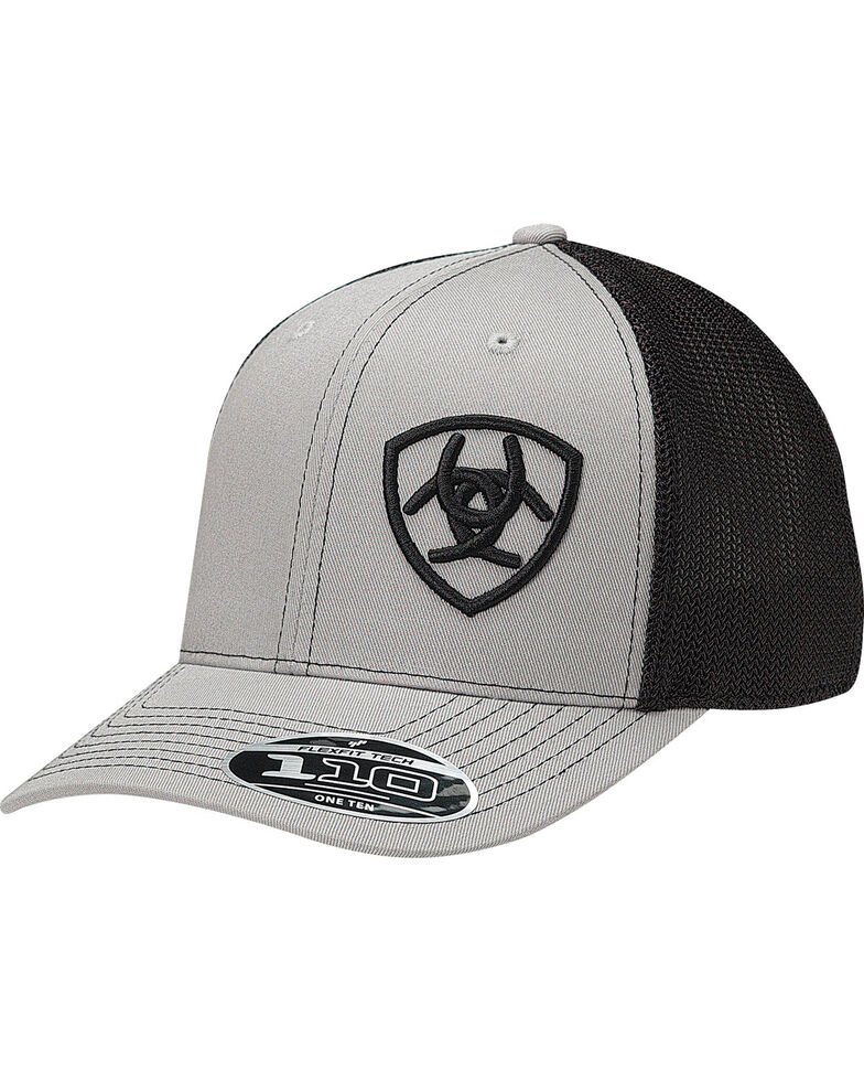 Ariat Men s Grey Contrasting Shield Baseball Cap - Country Outfitter 49ad073b614