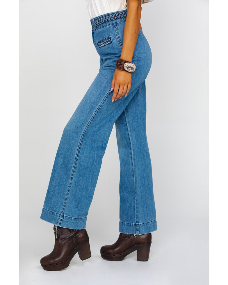 Free People Women's Seasons In The Sun Jeans , Blue, hi-res