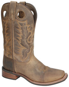 Smoky Mountain Men's Duke Western Boots - Square Toe, Brown, hi-res