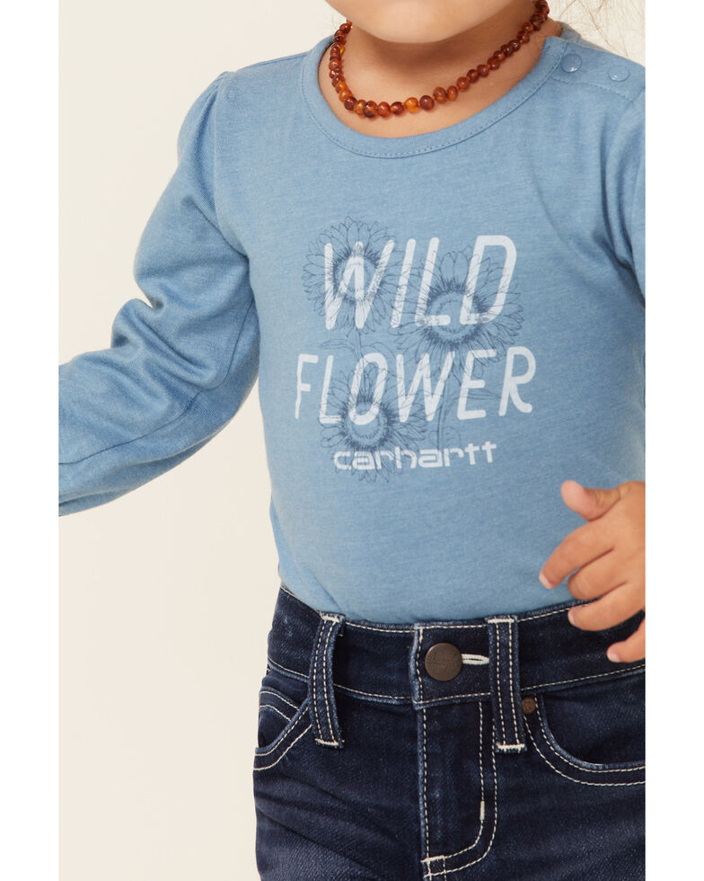 Carhartt Infant Girls' Wild Flower Graphic Long Sleeve Bodysuit , No Color, hi-res