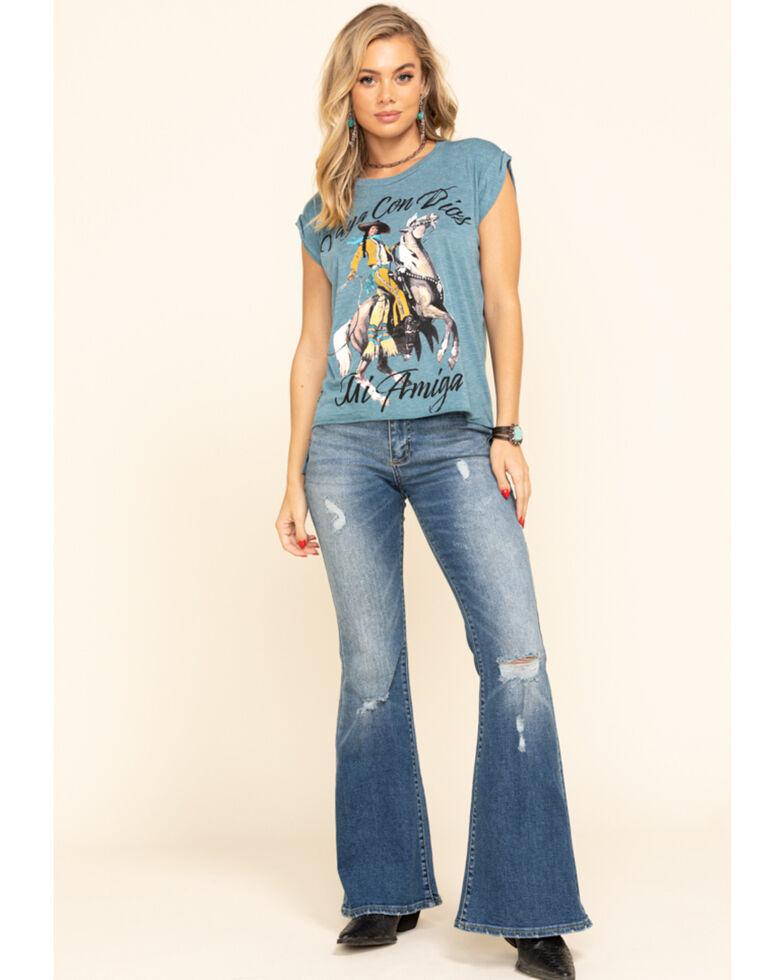Lee Women's Light Wash High Rise Vintage Modern Flare Jeans, Blue, hi-res