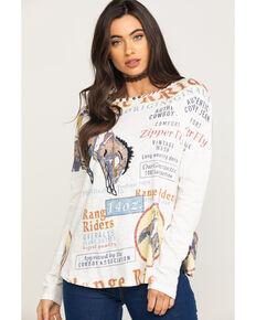 Double D Ranchwear Women's Range Rider Long Sleeve Top, White, hi-res