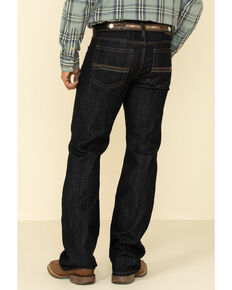 Cody James Men's Roadhouse Dark Rigid Relaxed Bootcut Jeans , Blue, hi-res