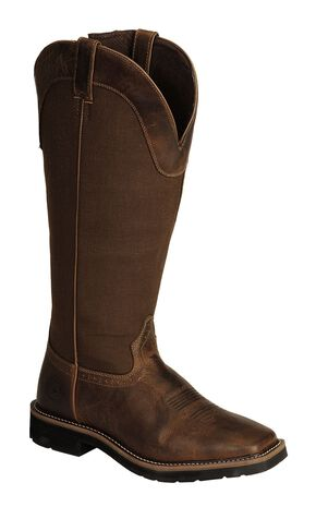 "Justin Men's 17"" Fielder Brown Snake Proof Boots - Soft Toe, Tan, hi-res"