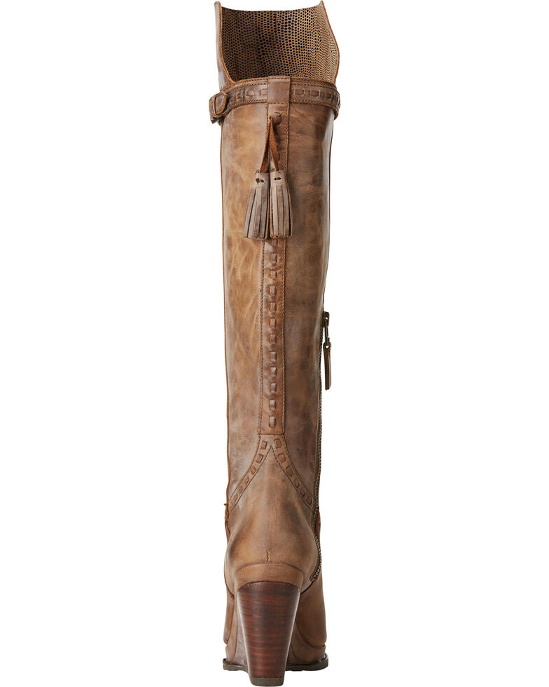 Ariat Women's Knoxville Tan Tall Wedge Boots - Round Toe, Tan, hi-res
