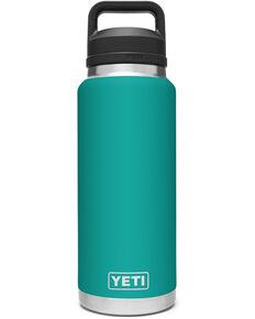 Yeti Rambler 36oz Aquifer Blue Chug Cap Bottle, Blue, hi-res