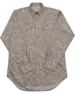 Schaefer Outfitter Men's Frontier Paisley Western Button Shirt - Big & Tall, Beige/khaki, hi-res