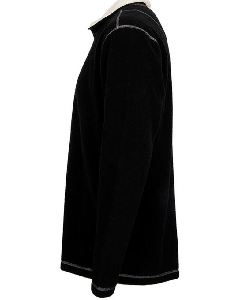 STS Ranchwear Men's Black Cogburn Fleece Pullover Sweatshirt , Black, hi-res