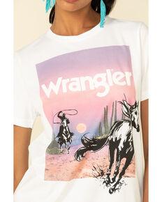 Wrangler Retro Women's Horse Sunset Graphic Tee, White, hi-res