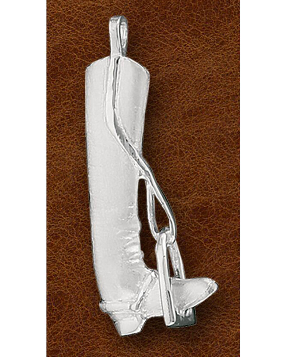 Kelly Herd Sterling Silver Small English Boot Necklace, Silver, hi-res