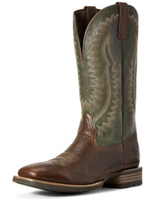 Ariat Men's Hot Iron Patina Western Boots - Wide Square Toe, Brown, hi-res