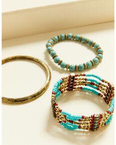 Shyanne Women's Summer Nights Bronze Stretch Bracelet Set, Bronze, hi-res