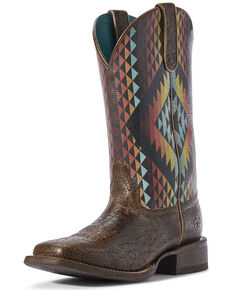 Ariat Women's Circuit Savanna Serape Western Boots - Wide Square Toe, Brown, hi-res