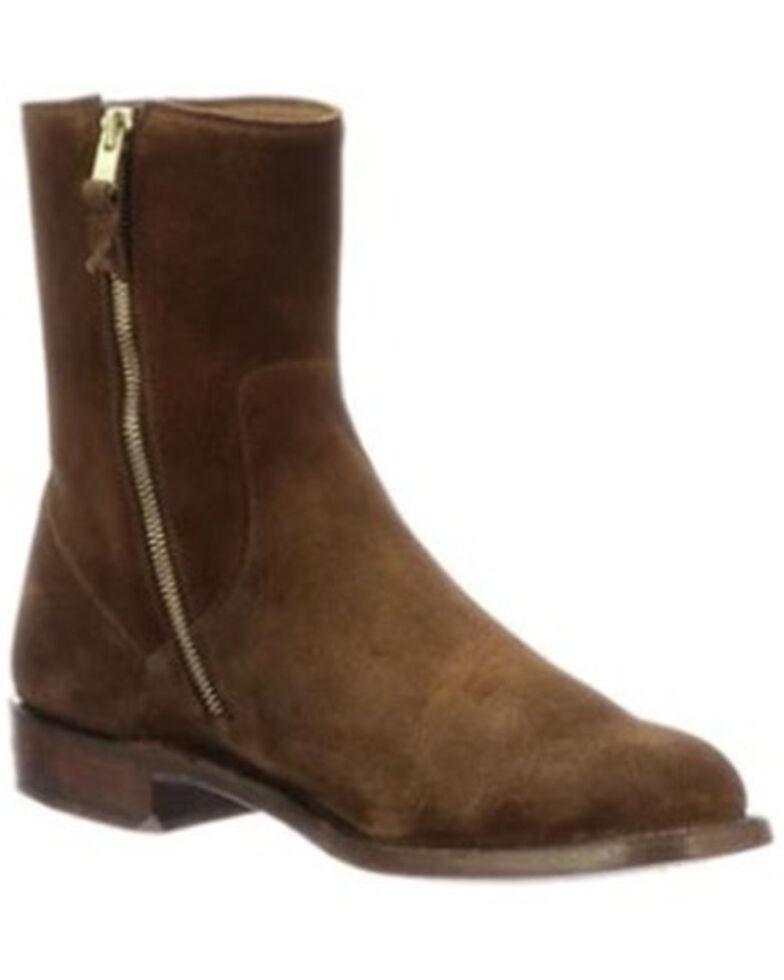 Lucchese Men's Jonah Western Boots - Round Toe, Dark Brown, hi-res