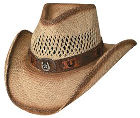 Bullhide Lucky Strike Panama Straw Cowgirl Hat, Natural, hi-res