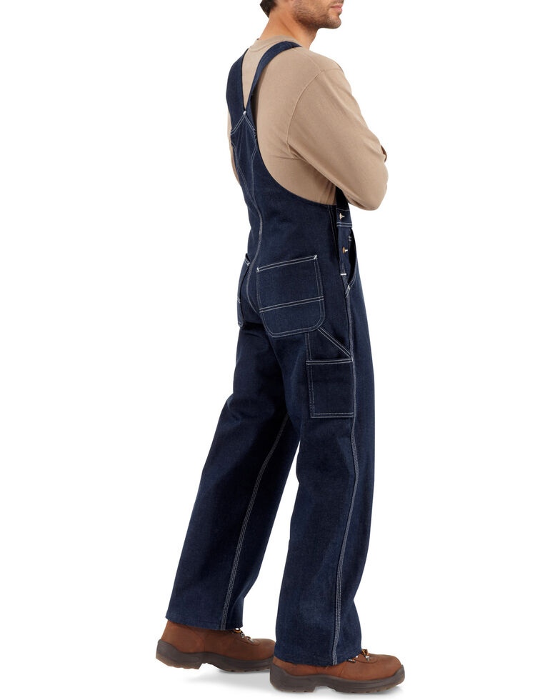 Carhartt Unlined Denim Bib Work Overalls - Big & Tall, Denim, hi-res