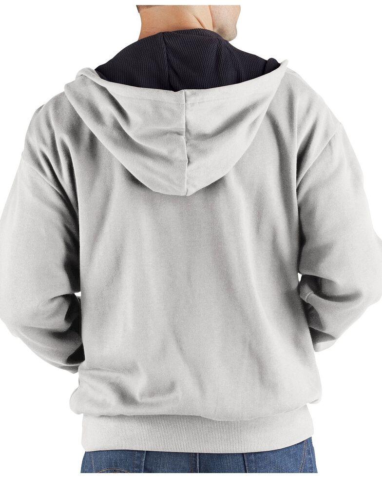 Dickies Midweight Fleece Zip-Up Hooded Work Jacket, Ash Grey, hi-res
