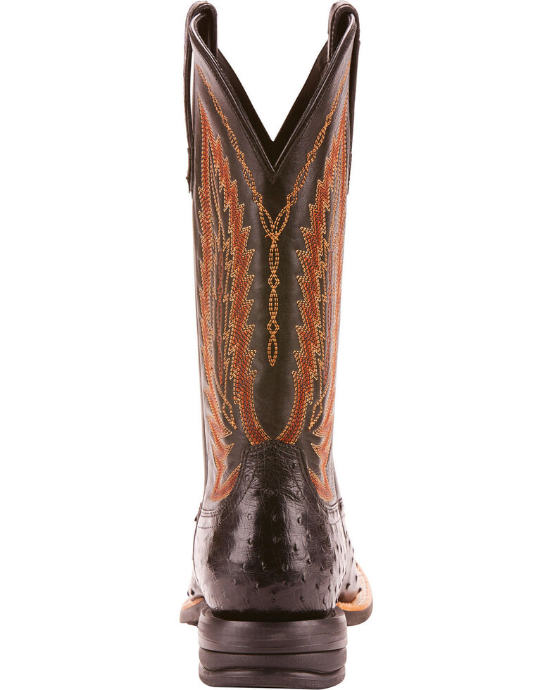 a490545bf16 Ariat Men's Platinum Full Quill Ostrich Cowboy Boots - Square Toe