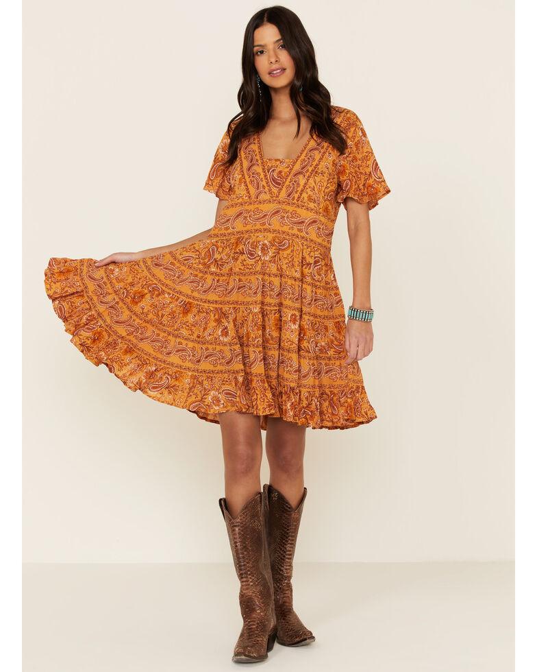 Patrons of Peace Women's Border Print Toluca Dress, Rust Copper, hi-res
