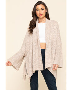 Free People Women's BFF Cardigan , Tan, hi-res