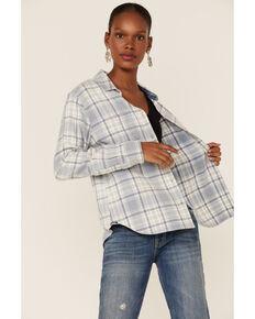 Flag & Anthem Women's Plaid Flannel Shirt, Light Blue, hi-res