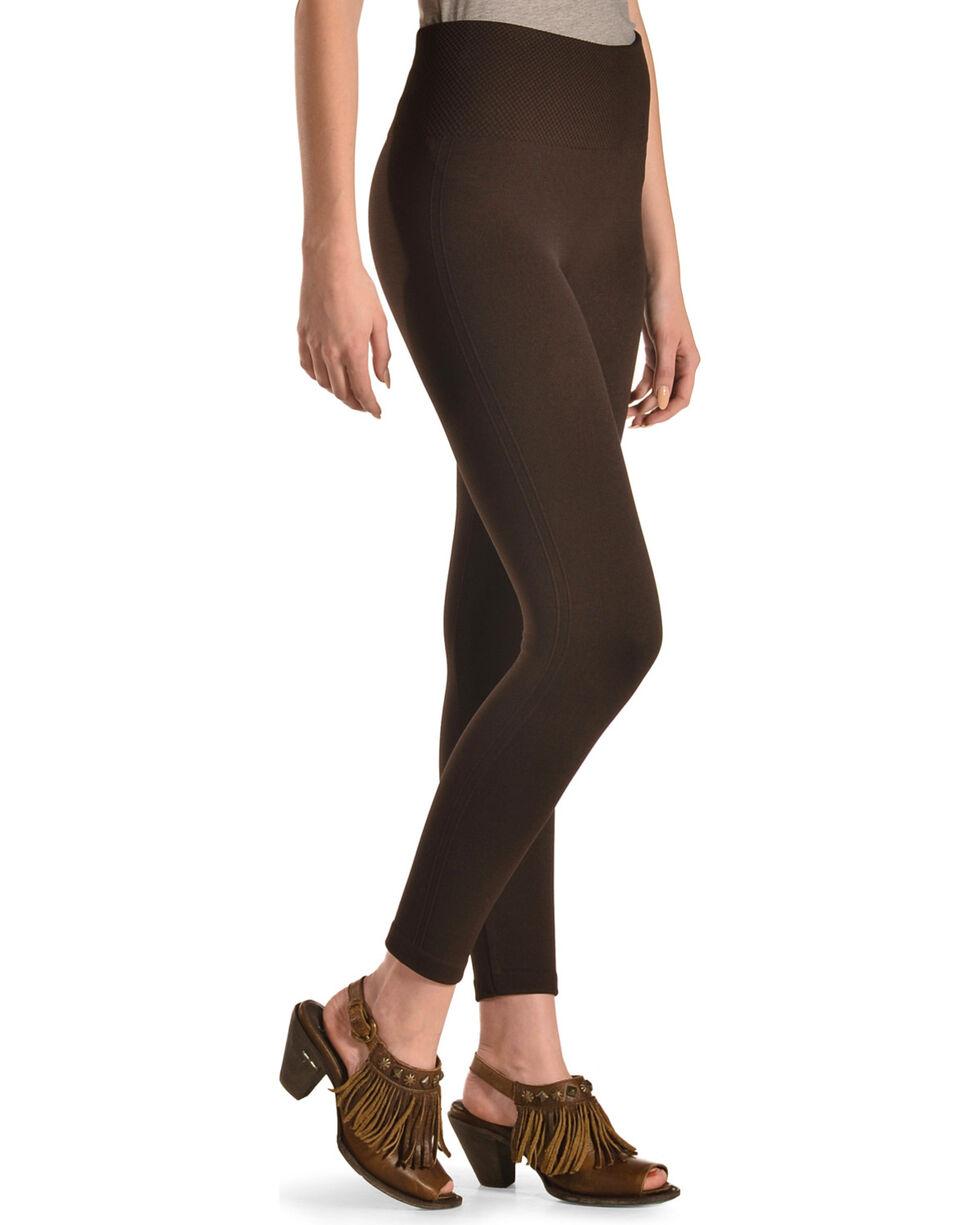 Boom Boom Jeans Women's Brown Fleece Lined Leggings, Brown, hi-res