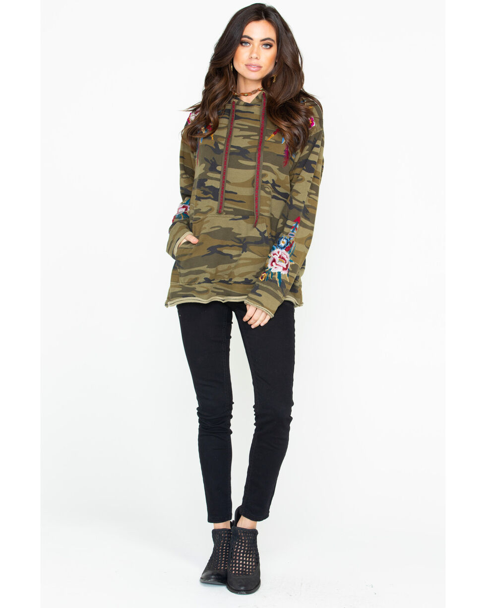 Johnny Was Women's Darielle Pull On Hoodie, Camouflage, hi-res