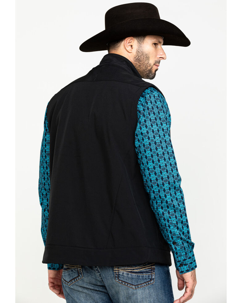Cinch Men's Black Bonded Concealed Carry Vest , Black, hi-res
