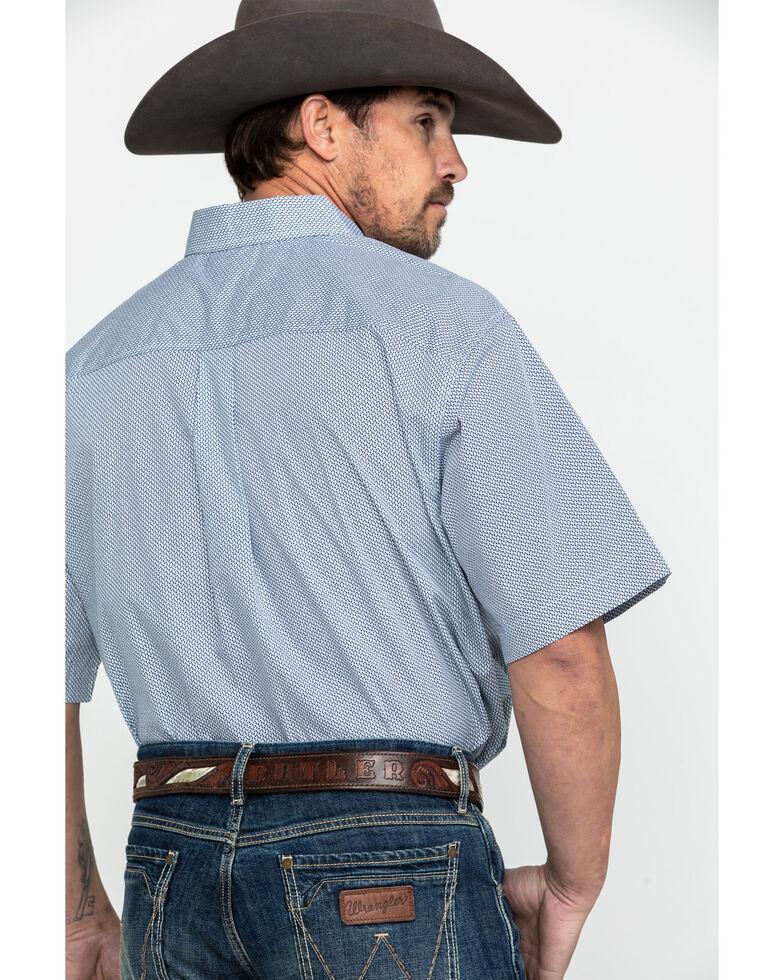 Cinch Men's Tencel Geo Print Short Sleeve Western Shirt , Navy, hi-res