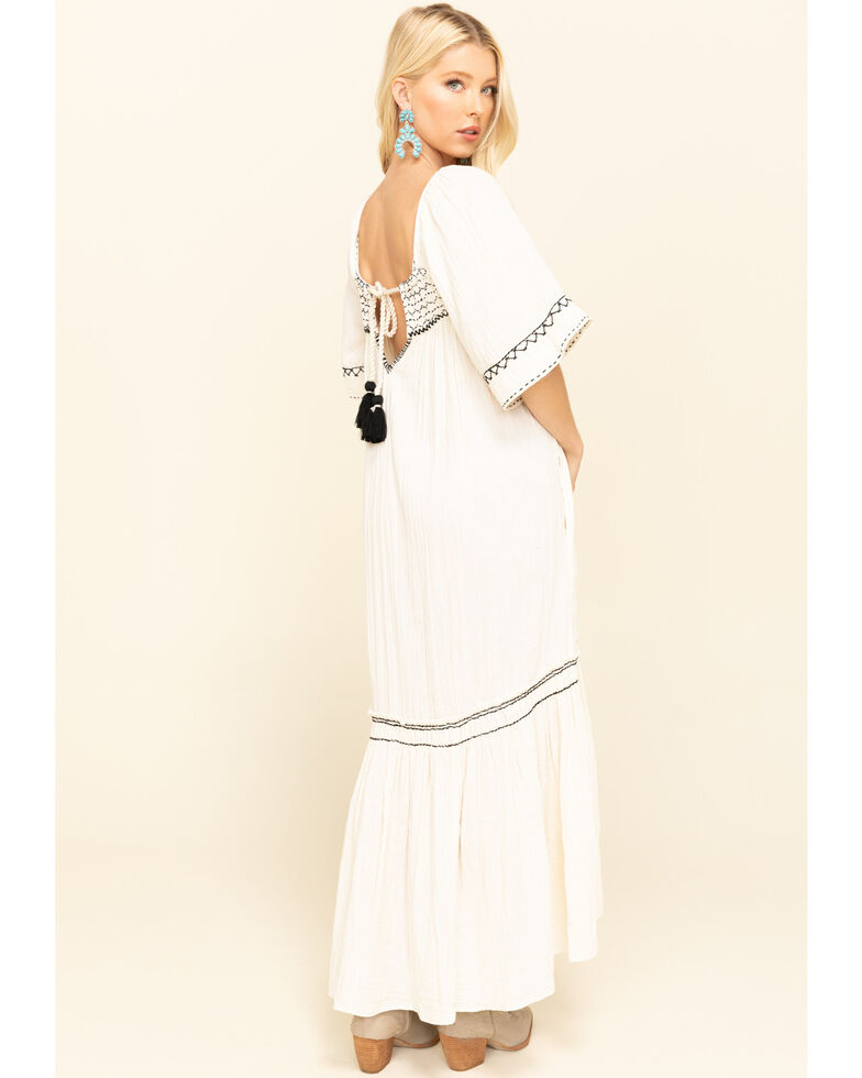 Free People Women's Ivory Im The One Maxi Dress, Ivory, hi-res