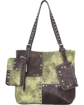 Savana Women's Faux Leather 3 in 1 Tote , Cream, hi-res