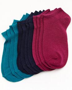 Shyanne Women's No Show Sock - 6 Pack, Multi, hi-res