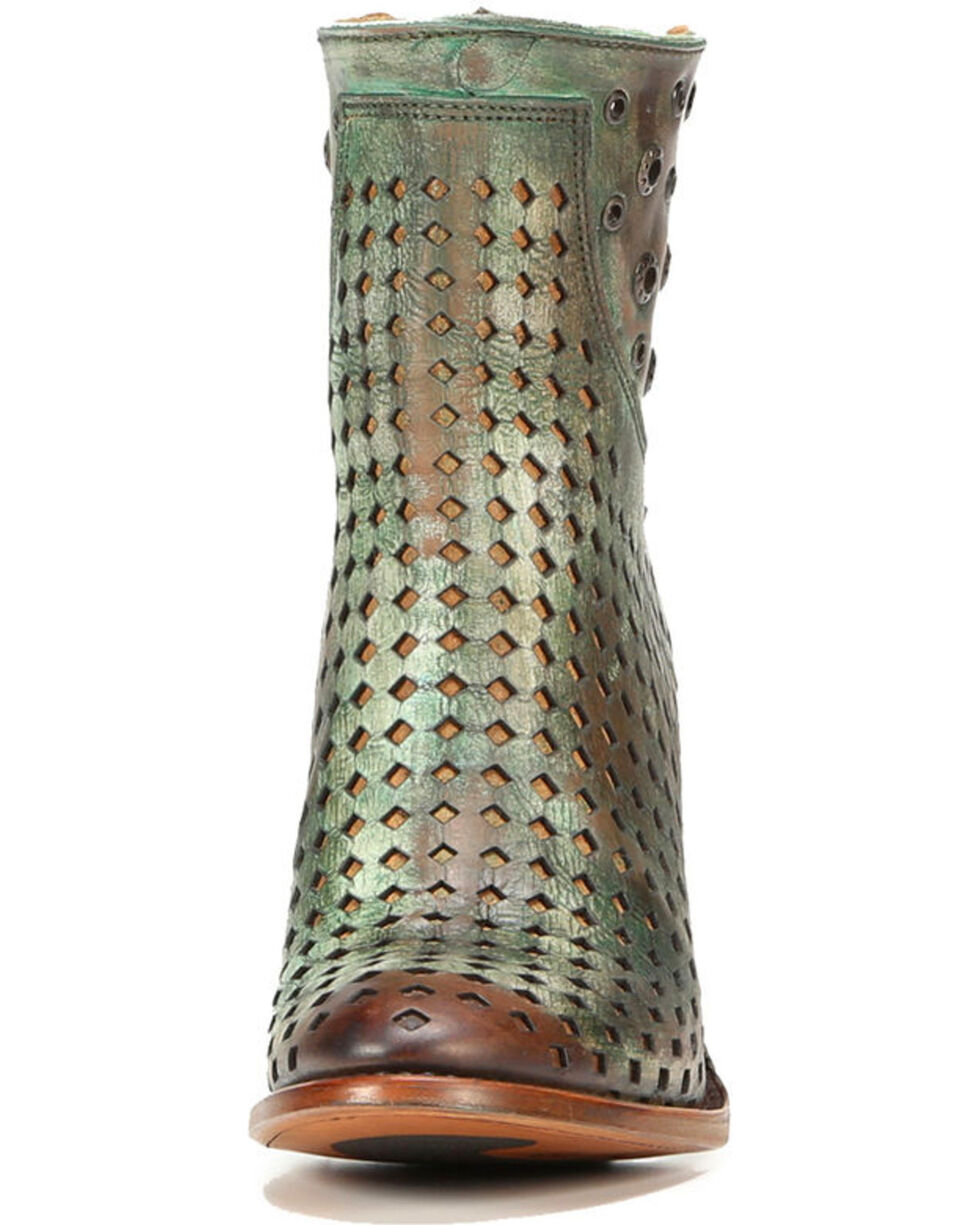 Corral Women's Light Brown Studded Boots - Round Toe , Lt Brown, hi-res
