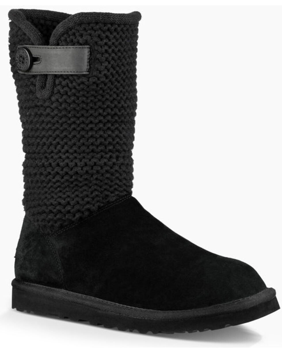 UGG Women's Black Shaina Boots - Round Toe , , hi-res