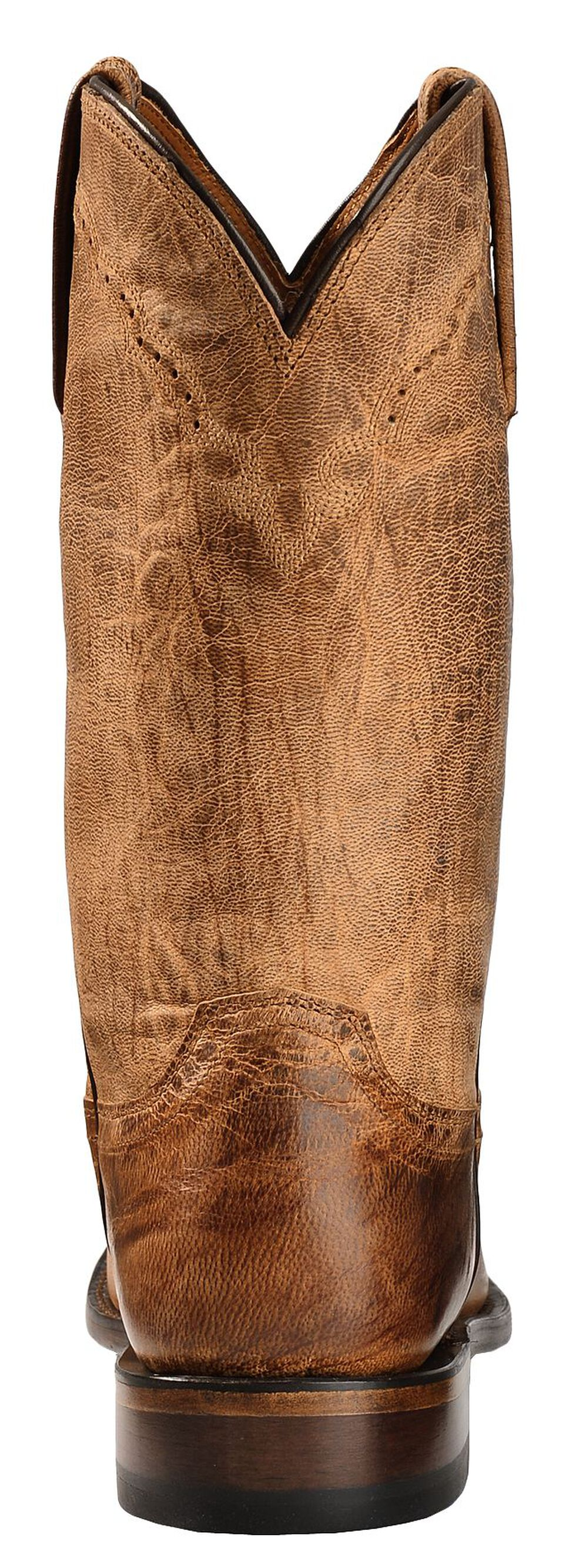 Lucchese Handmade 1883 Mad Dog Goatskin Roper Cowboy Boots - Round Toe, Tan, hi-res
