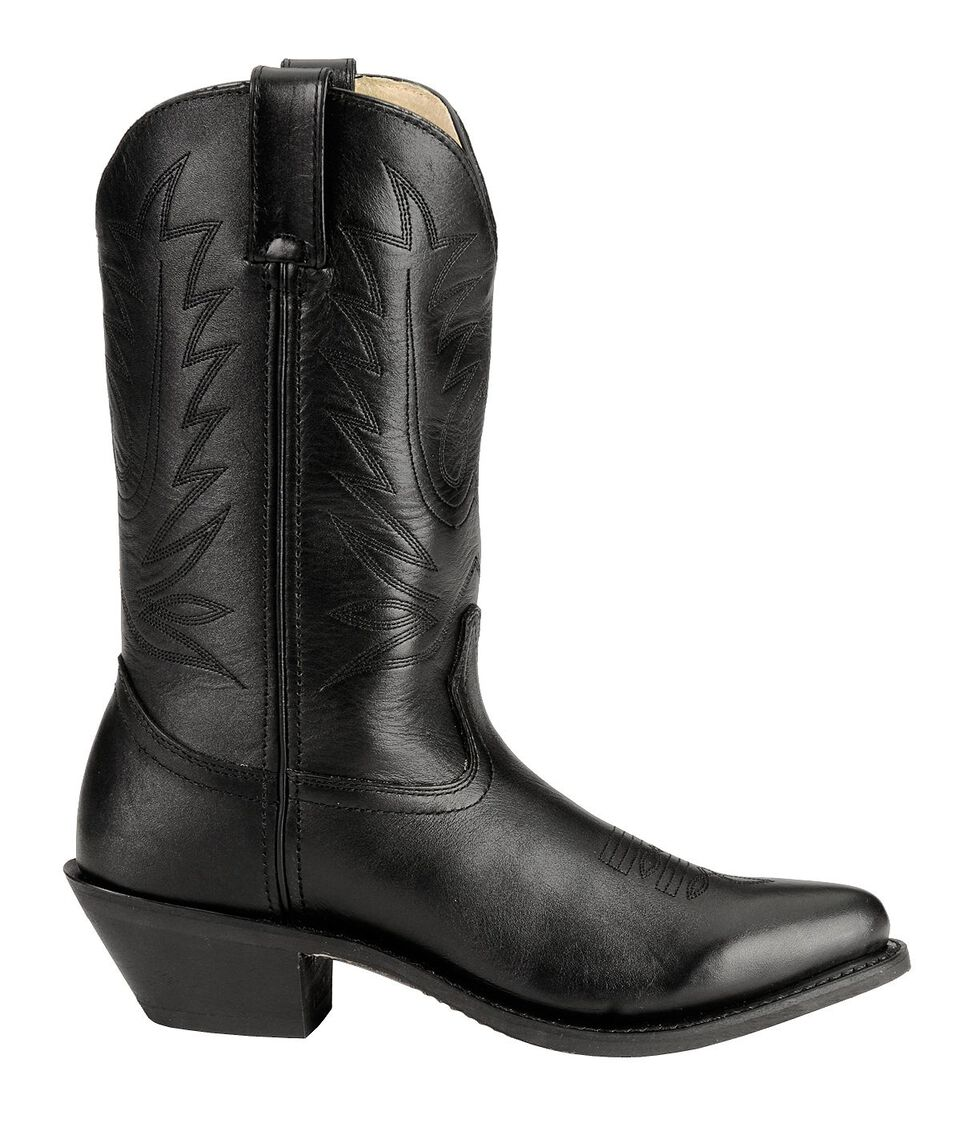 Durango Black Western Cowgirl Boots - Round Toe, Black, hi-res